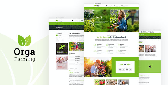 Test du thème WordPress Orga Farm , découvrez notre avis
