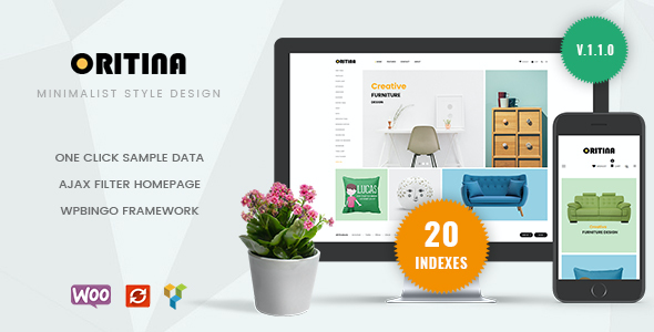 Test du thème WordPress Oritina , voici notre avis