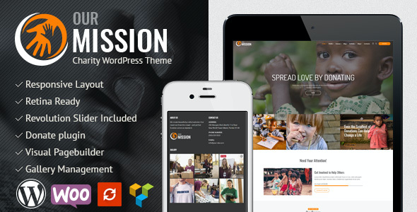 test Our Mission - Charity WordPress Theme