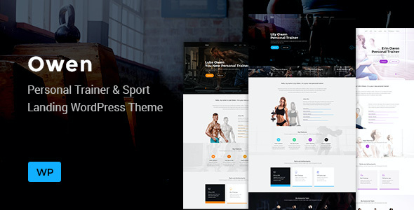 test Owen - Personal trainer & Sport One Page Landing WordPress theme
