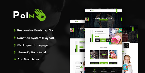 test Pain - Charity & Fundraise Non-profit WordPress Theme