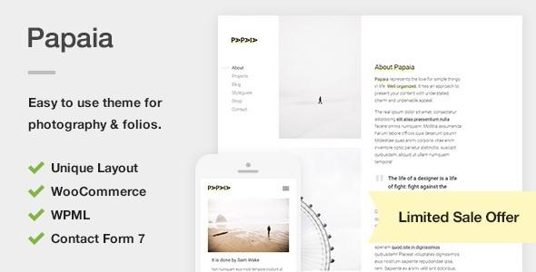 Test du thème WordPress Papaia , découvrez notre avis