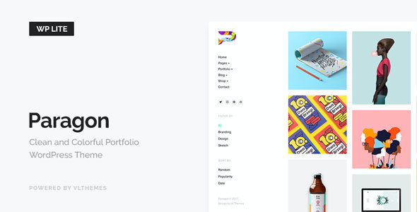 test Paragon Lite - Colorful Portfolio for Freelancers & Agencies