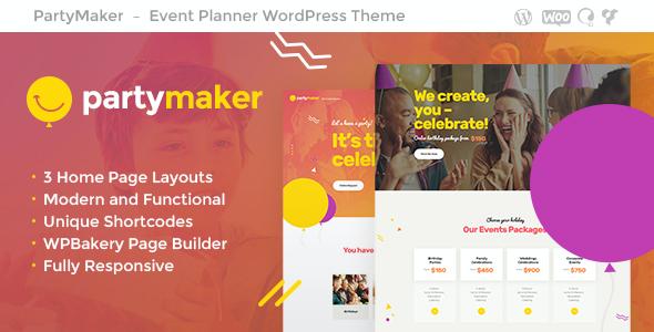 Test du thème WordPress PartyMaker , voici notre avis