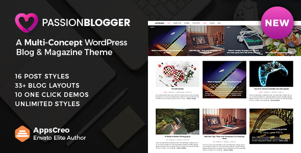 test Passion Blogger - A Responsive WordPress Theme