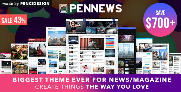 Test du thème WordPress PenNews , découvrez notre avis