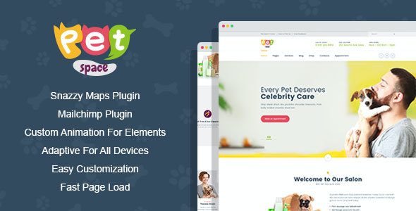 test PetSpace - Animal Grooming WordPress Theme