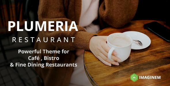 Test du thème WordPress Plumeria Restaurant and Cafe Theme for WordPress , voici notre avis