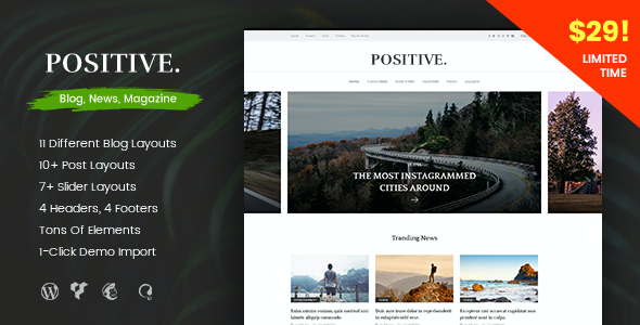test Positive - Blog, News, Magazine WordPress Theme