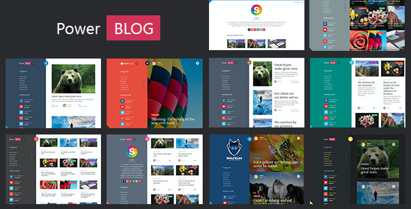 test PowerBlog - Modern AJAX Blog Theme