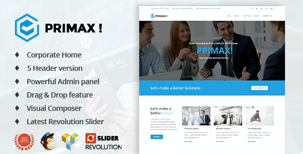 test Primax Corporate Business WordPress Theme