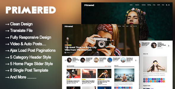test Primered - WordPress Blog Magazine Theme