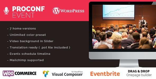 Test du thème WordPress Proconf Event Conference Meetup WordPress Theme , découvrez notre avis