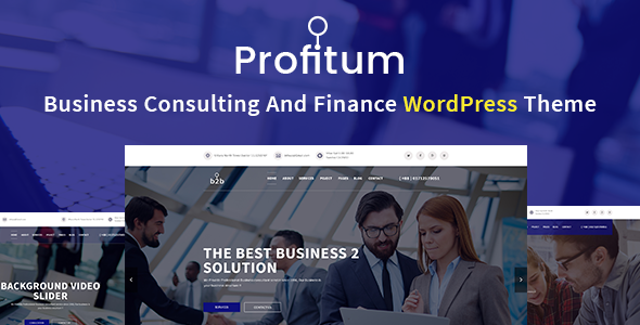 Test du thème WordPress Profitum , voici notre avis