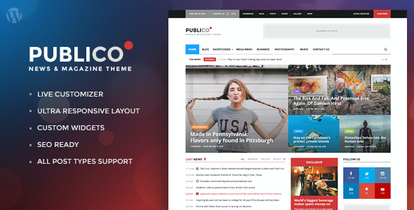 test Publico - Modern Magazine WordPress Theme