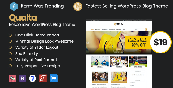 test Qualta - Responsive WordPress Blog Theme