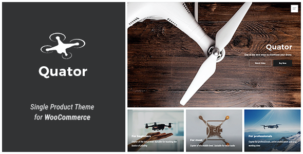 test Quator - Single Product WordPress Theme