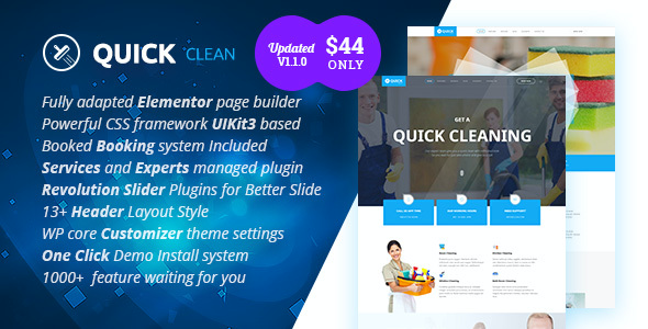 test Quick - Cleaning Service WordPress Theme