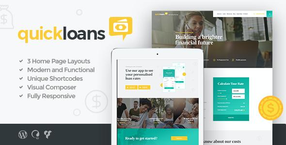 Test du thème WordPress QuickLoans , découvrez notre avis