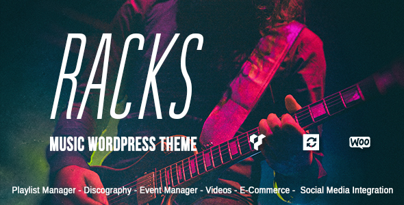 test Racks - An Old School Style Music WordPress Theme