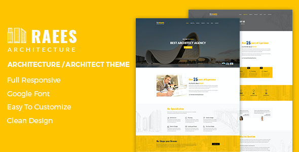 test Raees – Creative Responsive Architecture Theme