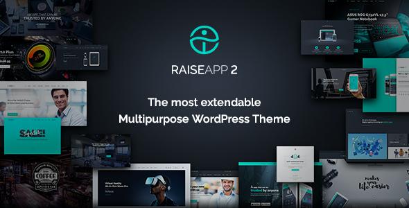 Test du thème WordPress RaiseApp , découvrez notre avis