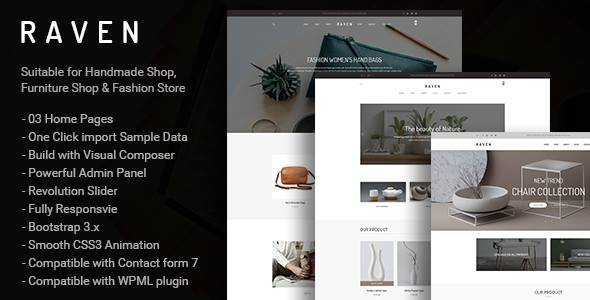 test Raven - Responsive WooCommerce and Blog WordPress Theme