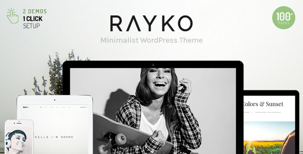 test Rayko - Minimal Multi-Concept WordPress Theme