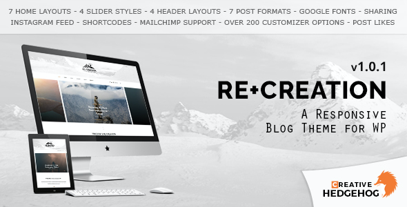 test ReCreation - a Responsive Blog Theme for WordPress