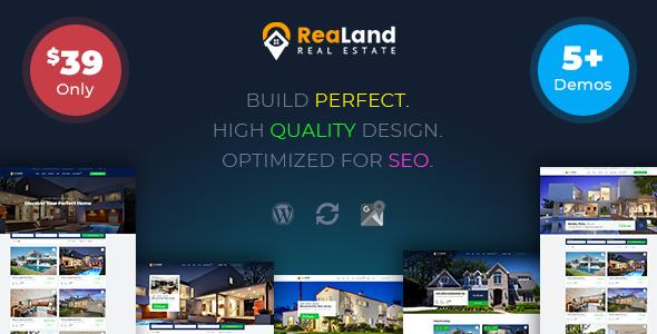 Test du thème WordPress ReaLand , découvrez notre avis