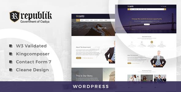 Test du thème WordPress Republik , découvrez notre avis
