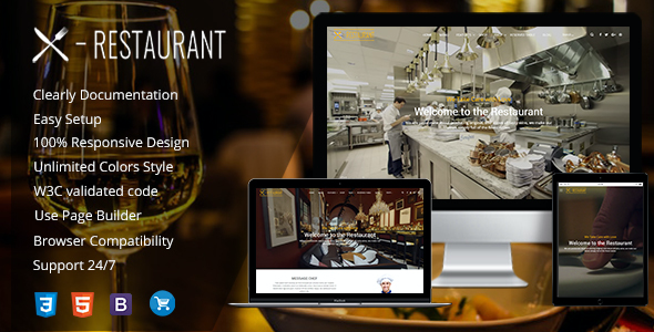 test Restaurant - A Responsive WordPress Theme