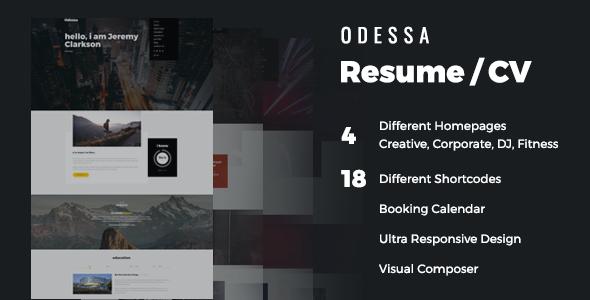 Test du thème WordPress Resume , découvrez notre avis