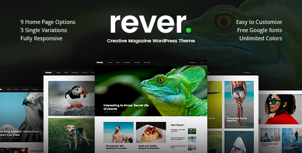 test Rever - Clean and Simple WordPress Theme