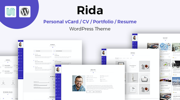 test Rida - vCard Responsive Resume / Portfolio WordPress Theme