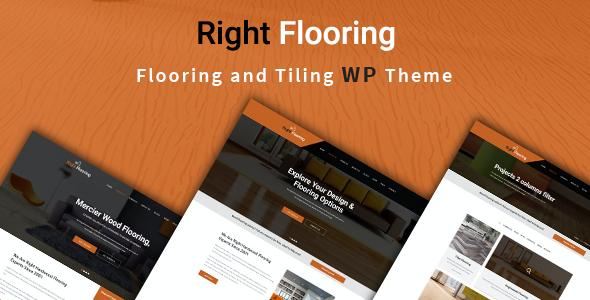 Test du thème WordPress Right Flooring , découvrez notre avis
