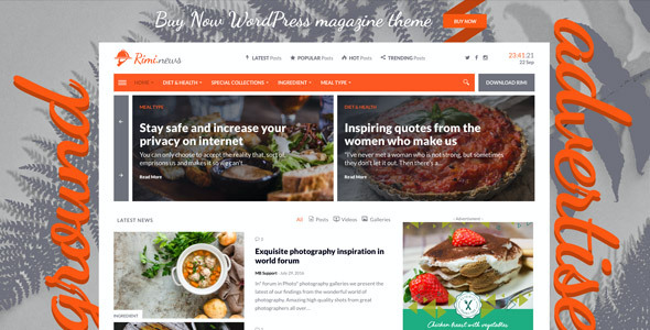 test Rimi - WordPress Theme for Food Blog and Magazine