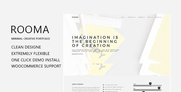 test Rooma Minimal Creative Portfolio WordPress Theme