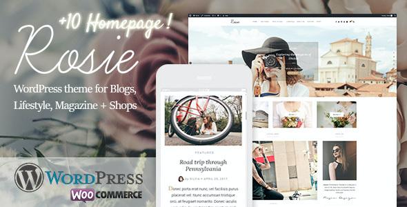 Test du thème WordPress Rosie , découvrez notre avis