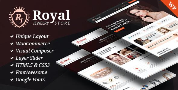 Test du thème WordPress Royal Jewelry WordPress Responsive Theme , voici notre avis