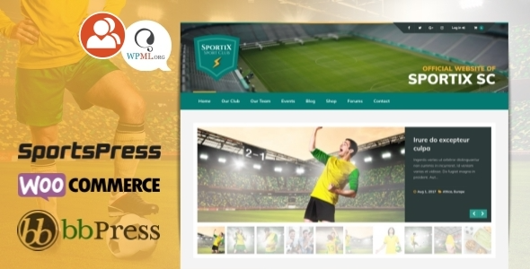 test SPORTIX - WordPress SportsPress Theme for Sport Clubs