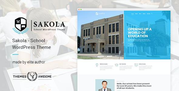 Test du thème WordPress Sakola , voici notre avis
