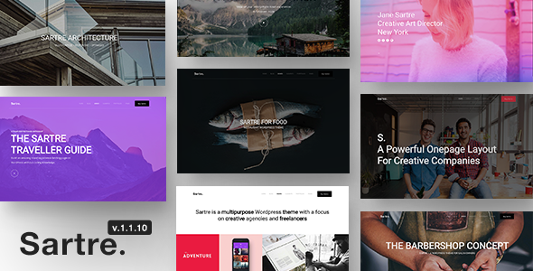 test Sartre - Responsive Multipurpose WordPress Theme for Creatives