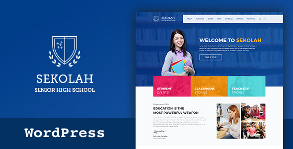 test Senior High School & Academic Calendar WordPress Theme