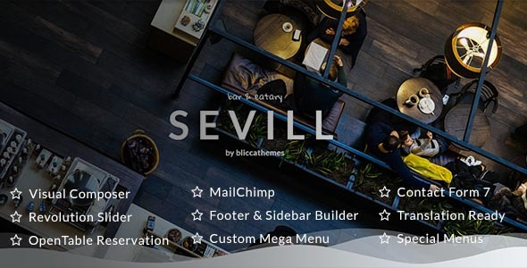 Test du thème WordPress Sevill , voici notre avis