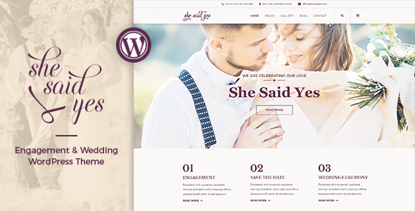 test SheSaidYes - Engagement & Wedding WordPress Theme