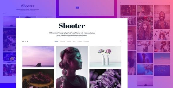 test Shooter - Photography Portfolio WordPress theme