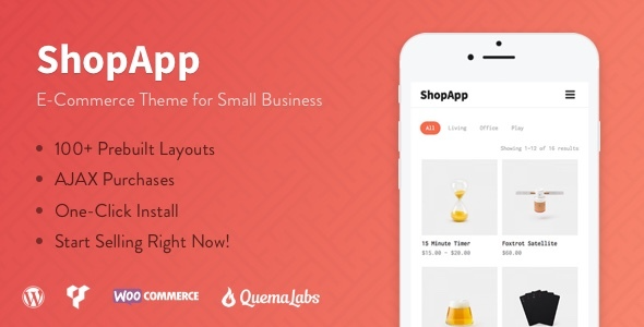 test ShopApp - WordPress Theme for Small Business