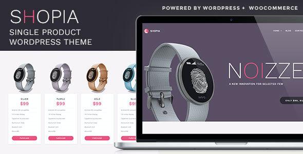 Test du thème WordPress Shopia , voici notre avis