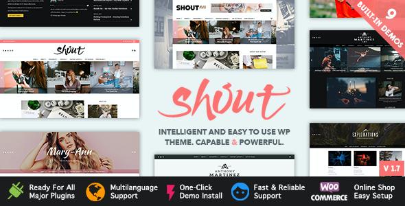 Test du thème WordPress Shout , voici notre avis